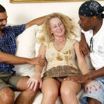 Creampie Cathy mit den schwarzen Jungs